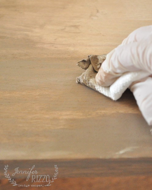 Use brown paint to stain unfinished wood