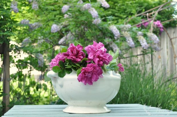 Vintage ceramic urn for flowers