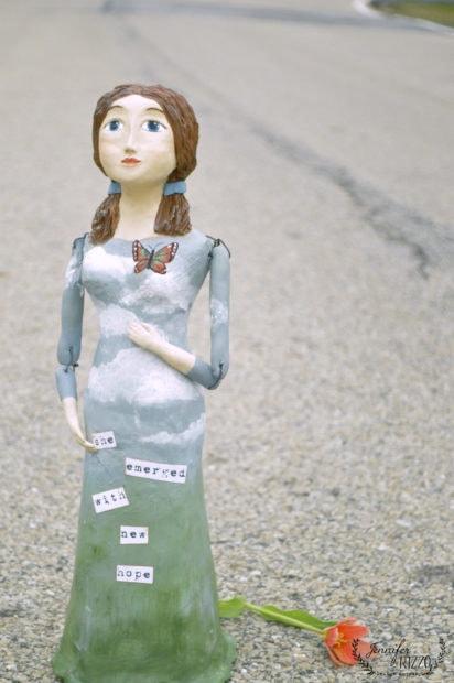 Art doll by Jennifer Rizzo