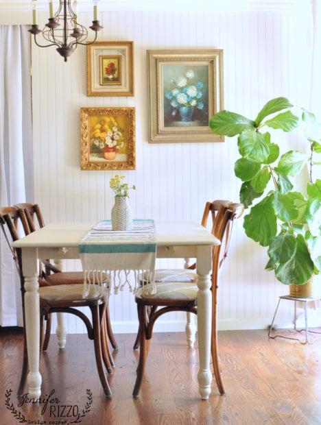Boho vintage dining room