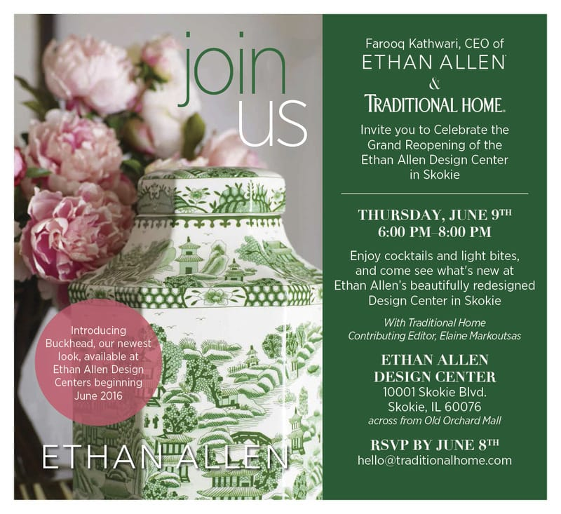 Amazing design at the Ethan Allen and Traditional home event