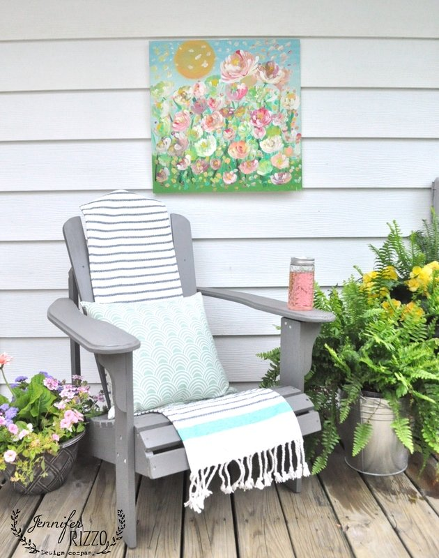 For your next party,paint outdoor art you can actually leave outside