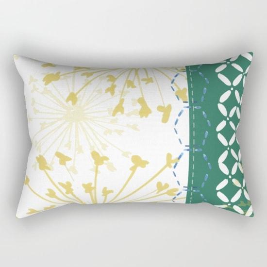 boho dandelion pillow
