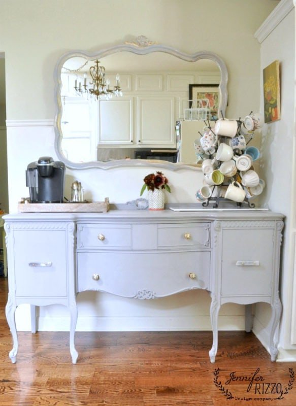 Furniture in a kitchen can make great unconventional storage