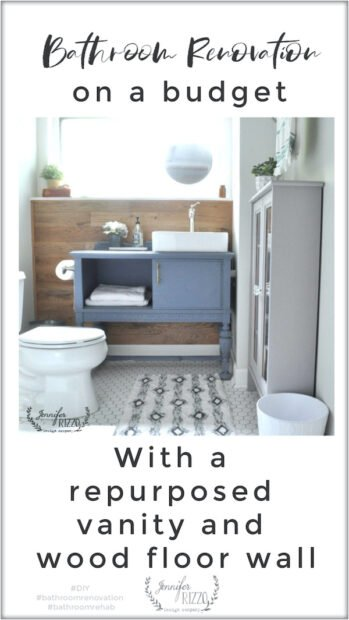 DIY bathroom renovation on a budget