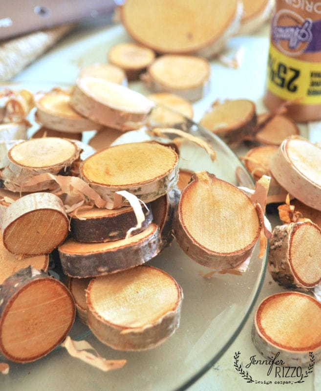 Wood slices for crafting