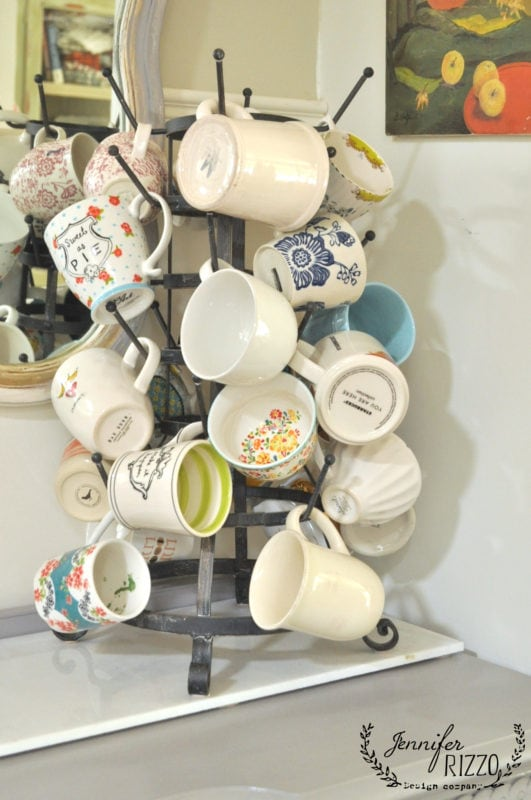 Vintage mug rack coffee mug tree