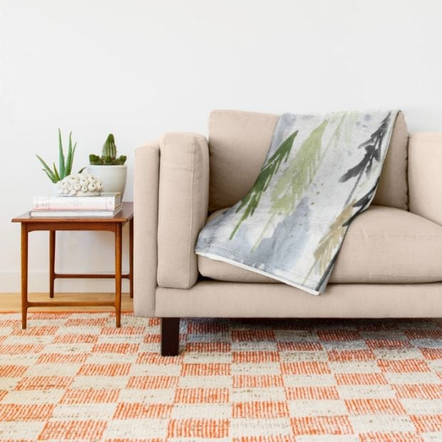 into the woodland blanket by Jennifer Rizzo fall home decor sale
