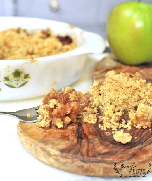 Baked appkle crumble recipe carmel colored apples