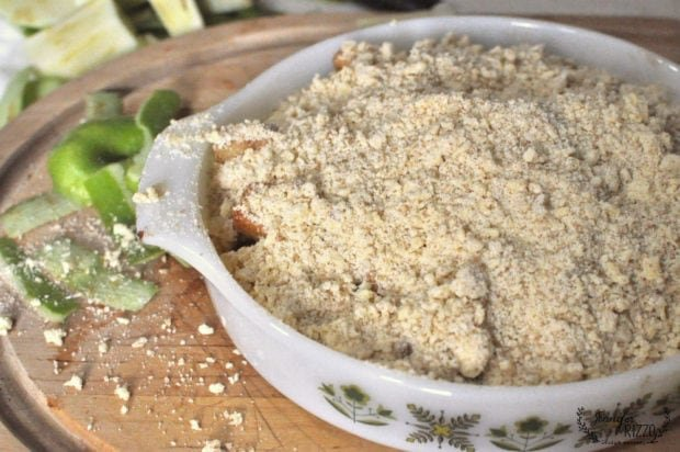 unbaked apple crumble topping
