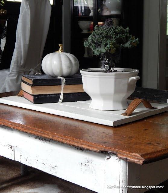 Make a farmhouse style wood tray