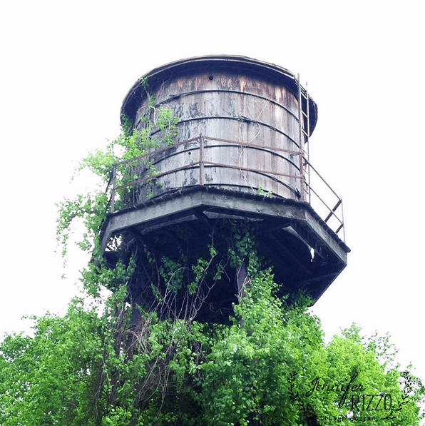Midway museum water tower