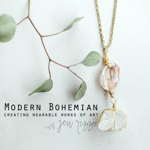 MOdern Bohemian Jewelry class an online ecourse