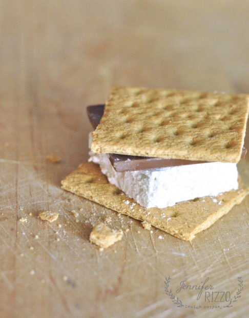 Smores with homemade marshmallows