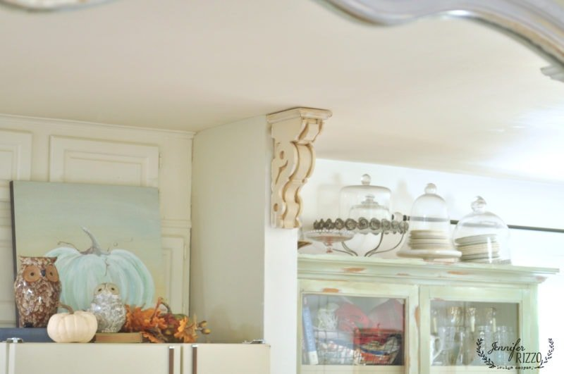 Top of fridge display and hutch