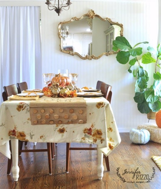 boho inspired metallic fall tablescape