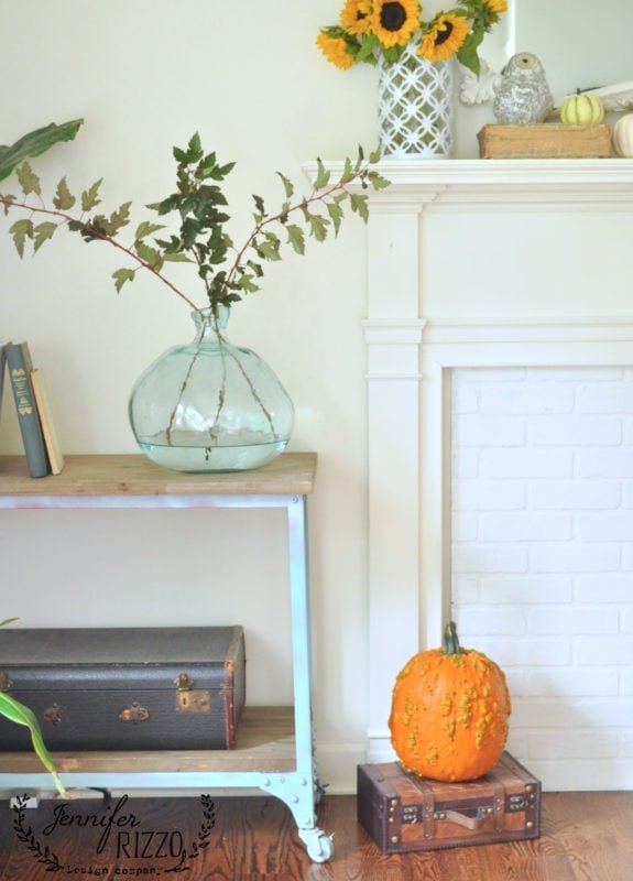 Simple boho fall decor
