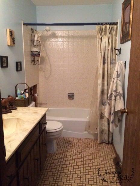 Original 1980u0027s Builderu0027s Vintage Bathroom, Planning A Contemporary Traditional  Bathroom Remodel