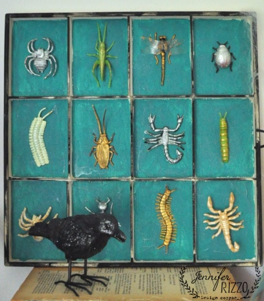 Fun and creepy DIY bug tray