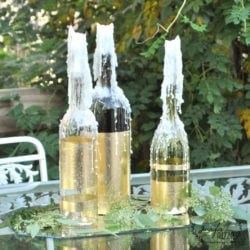 drippy gold leaf wine bottles