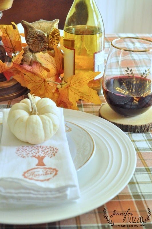 thanksgiving tablesetting tablescape