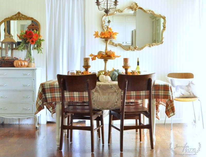 Fall and Thanksgiving tablescape