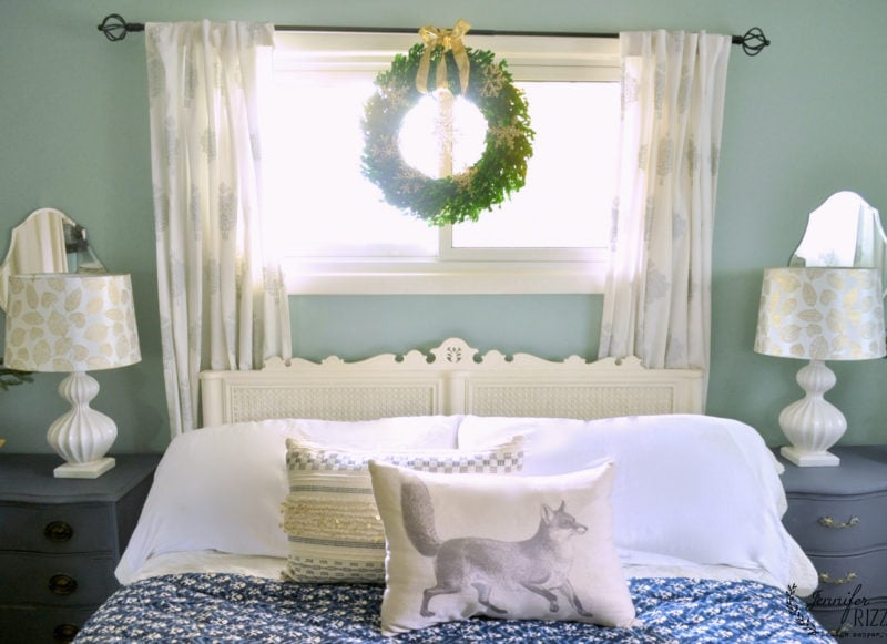 Simple Holiday Bedroom Decor Jennifer Rizzo