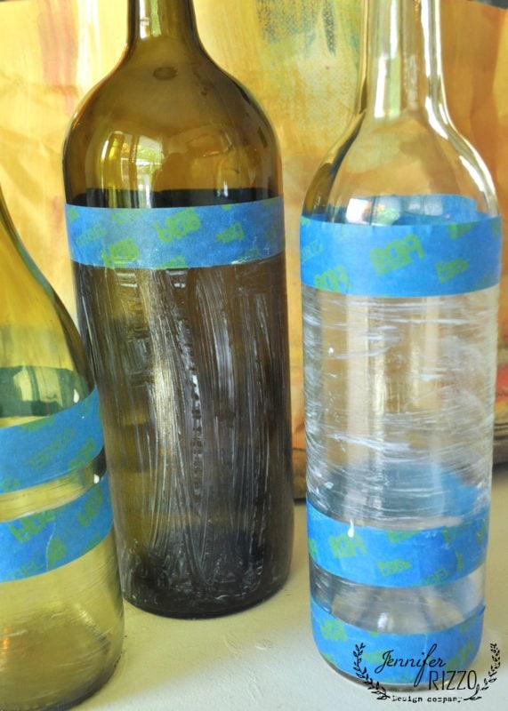 how to gold leaf wine bottles