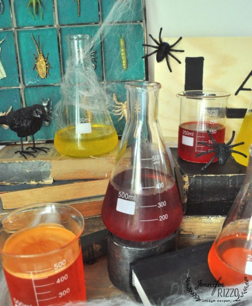 No spill creepy Halloween laboratory