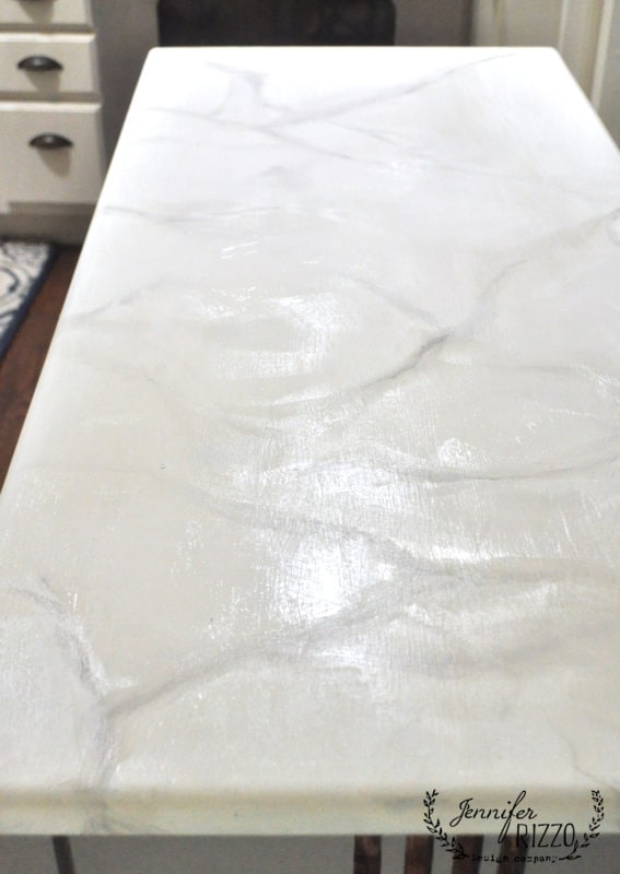 Let paint dry and seal with a non-yellowing sealer how to paint faux marble