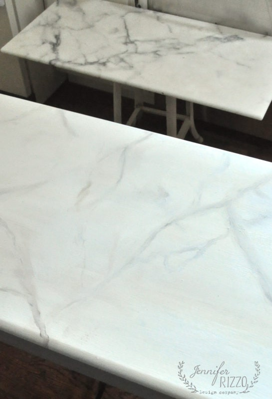 real marble and faux marble side by side how to paint faux marble
