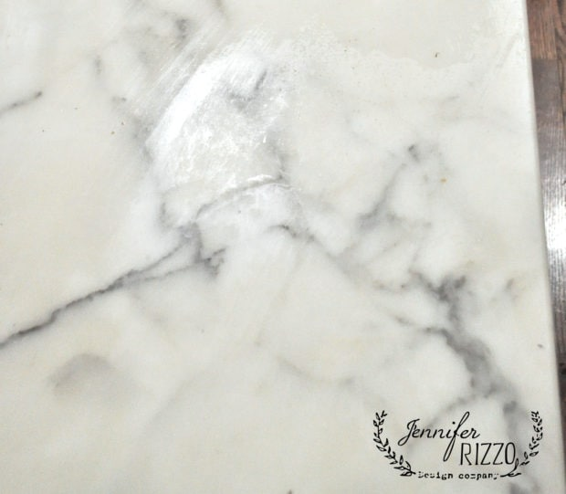 How To Paint Faux Marble On A Table Top Jennifer Rizzo - Fake marble slab