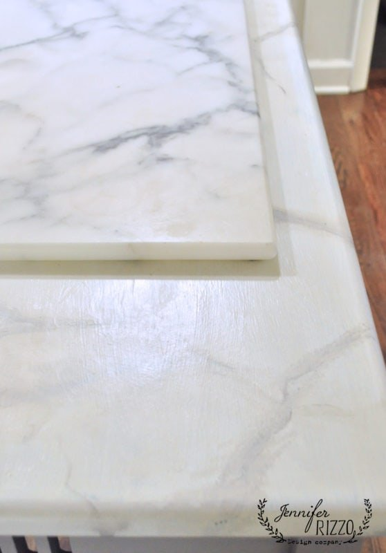 Exceptional How To Paint Faux Marble, Real Slab On Painted Surface For Reference