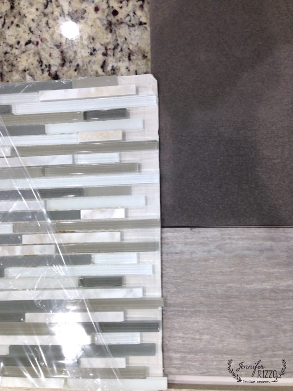 The bathroom tile selection