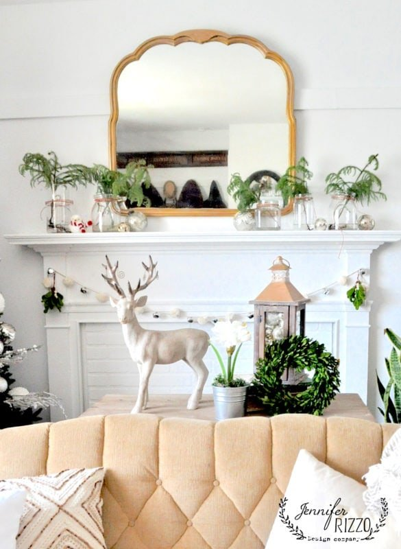 Christmas livingroom decorated for the holidays