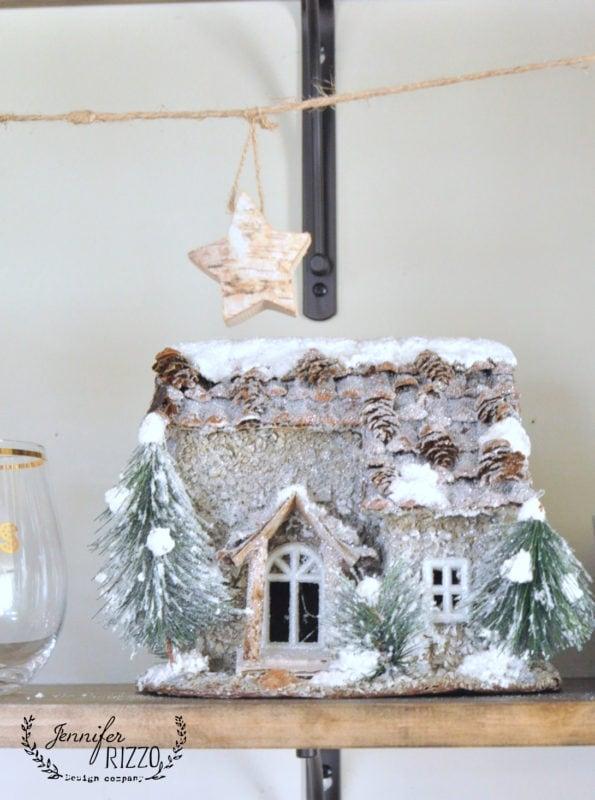 cute snowy cabin