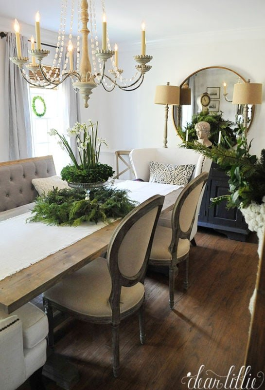 Dear Lillie Christmas dining room