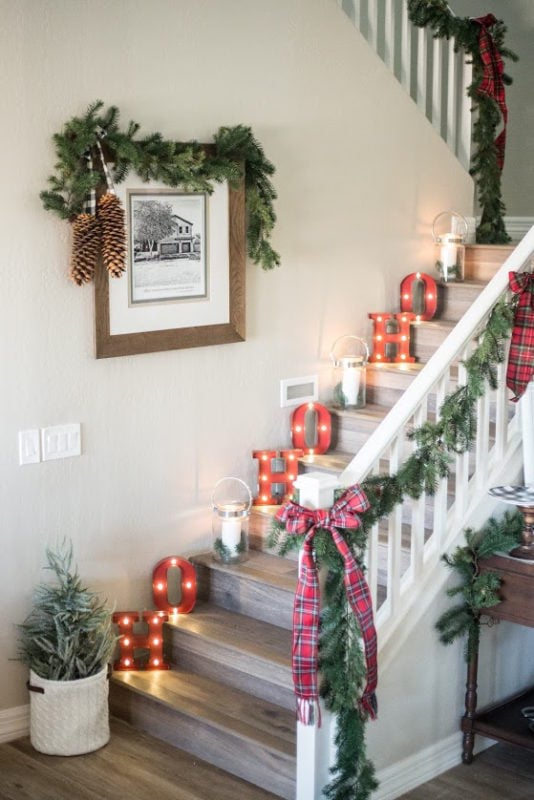 Just Destiny mag fun holiday stairs