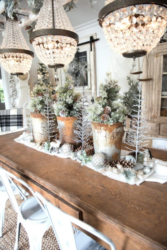 Liz Marie blog wintery dining room tablescape