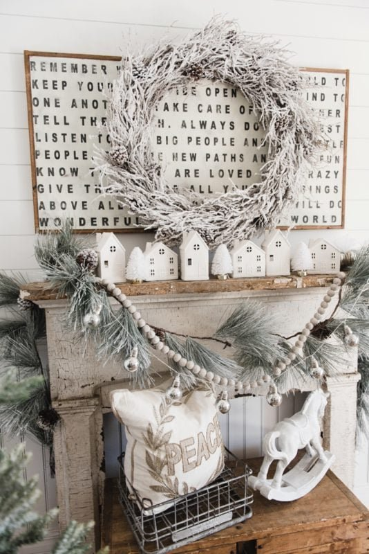 Liz Marie blog rustic and white mantel