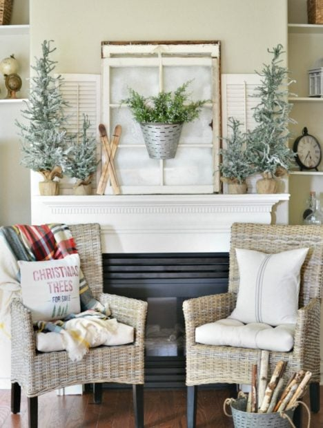 Winter woodland themed living room At the picket fence