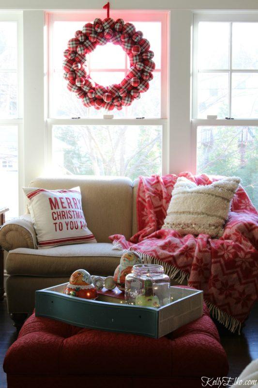 Kelly Elko Christmas family room