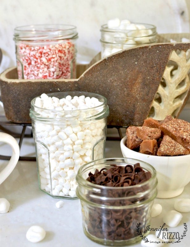 Ingredients for a hot cocoa bar