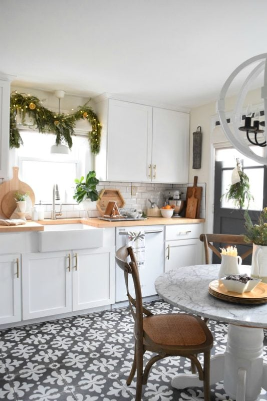 Nesting with Grace holiday Christmas kitchen