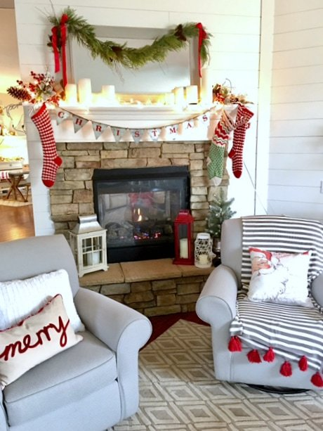 Pretty Christmas fireplace
