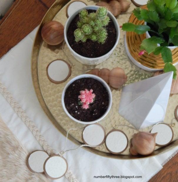 DIY rustic modern garland