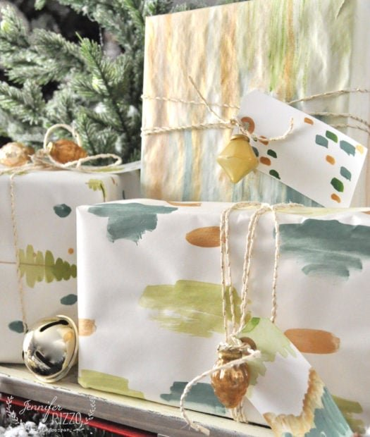 Hand painted gift wrap idea