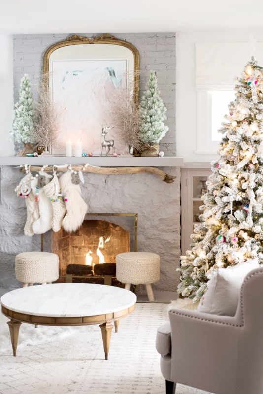Kindred vintage and co holiday mantel