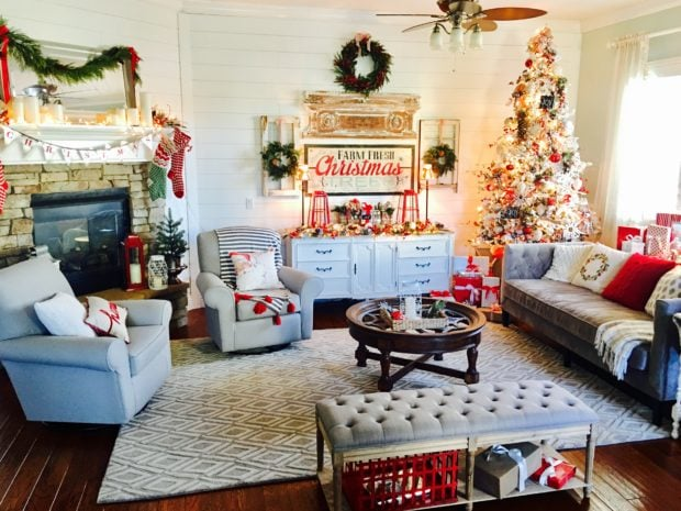 Merry and Bright Christmas living room