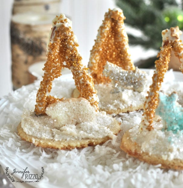 Away in a manger holiday cookies